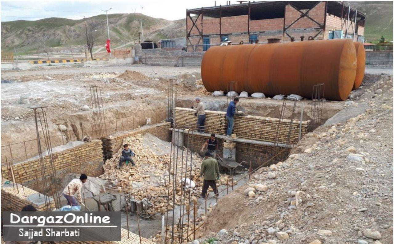 آخرین وضعیت پروژه در حال ساخت جایگاه سوخت بنزین و گازوئیل شهرستان درگز در نوخندان
