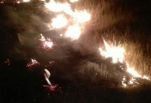 مهار آتش سوزی مراتع گنداب در درگز + تصاویر