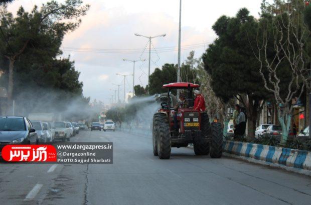 شروع عملیات ضدعفونی و گندزدایی معابر عمومی سطح شهر جهت پیشگیری از آلودگی کرونا ویروس در درگز