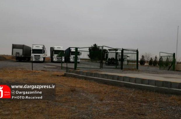 ۵ کامیون ترکمنستانی وارد گمرک لطف آباد شدند