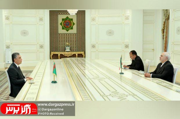 ظریف با رئیس جمهور ترکمنستان دیدار کرد